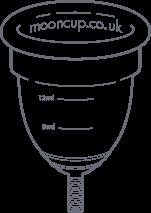 ilustración de una copa menstrual Mooncup