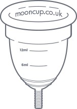 line drawing of a Mooncup