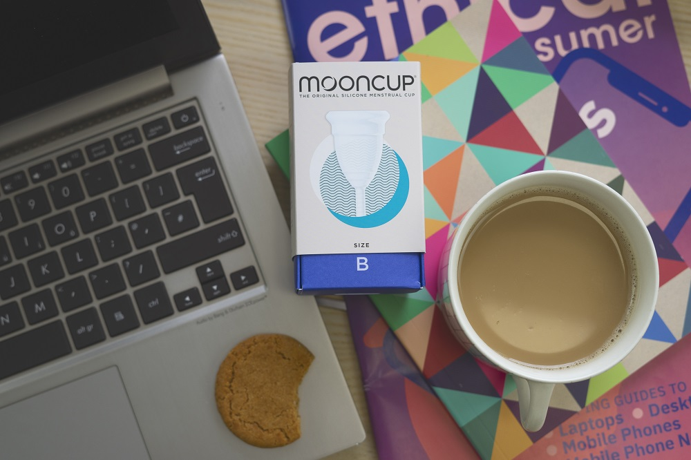 Mooncup Size B and laptop