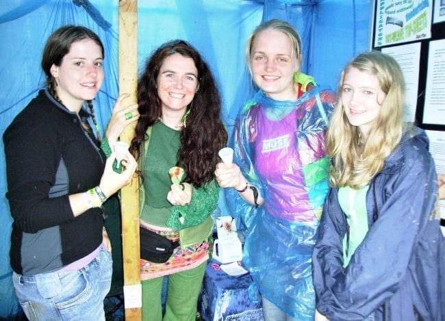 Mooncup team at Glastonbury