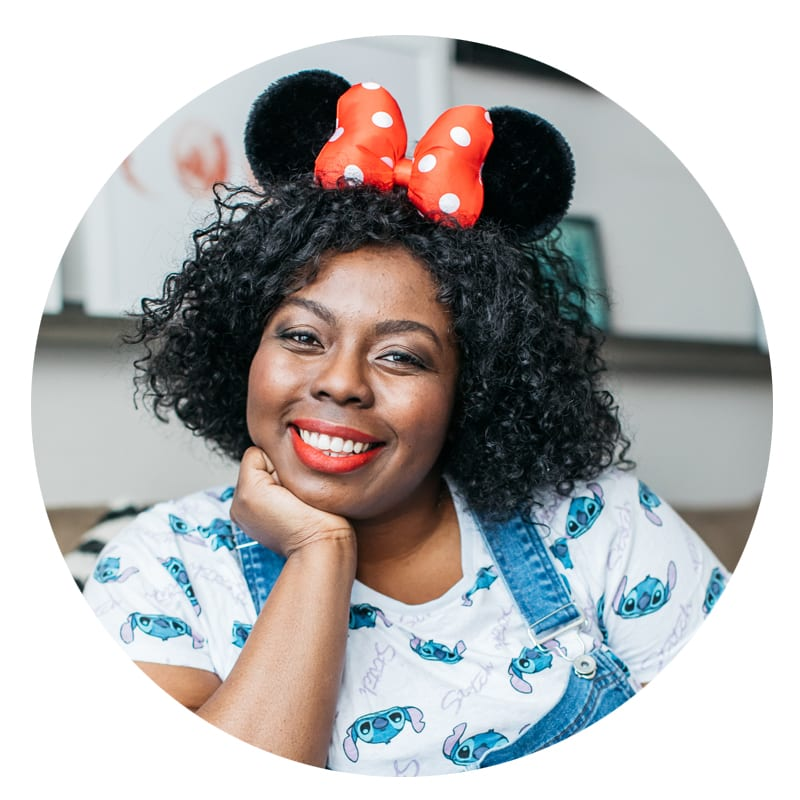 Real Mooncup User Michelle with Minnie ears