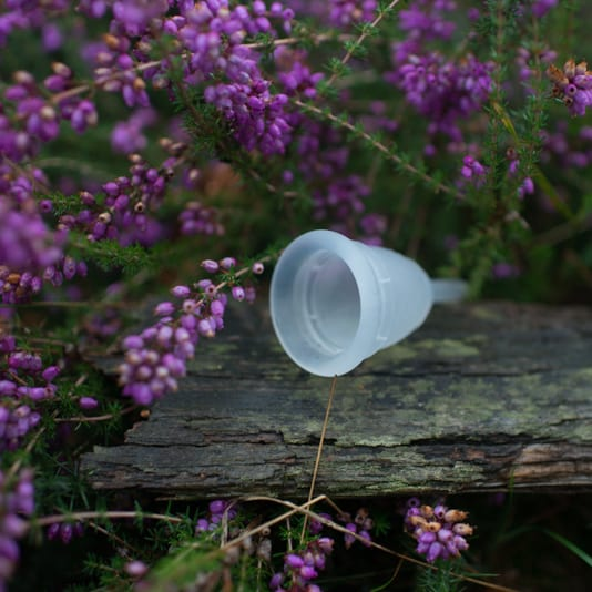Mooncup menstrual cup using while camping