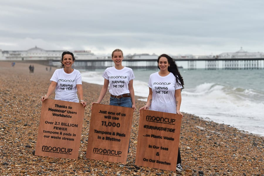 Mooncup annual beach clean in Brighton