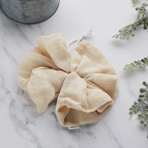 Tabitha Eve 100% biodegradable, organic cotton bath pouf