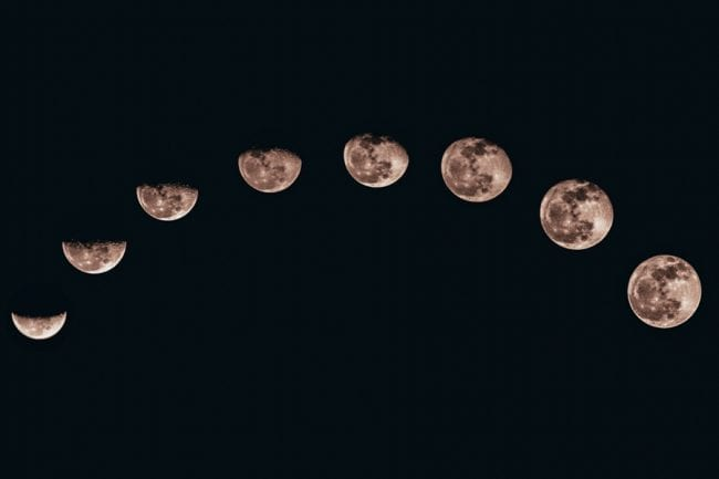 The phases of the lunar cycle