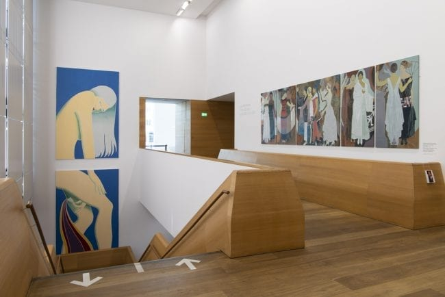 Lucy Mckenzie's Mooncup painting at the Brandhorst Museum in Munich