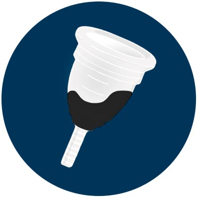 Black colour of period