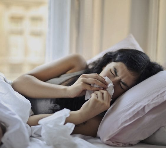 Illness can be a reason why your period is late