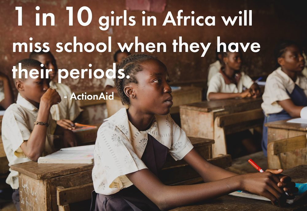 1 in 10 girls in Africa miss school when they have their periods